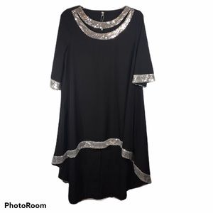 Rosegal High-low Black Sequin Tunic 18
